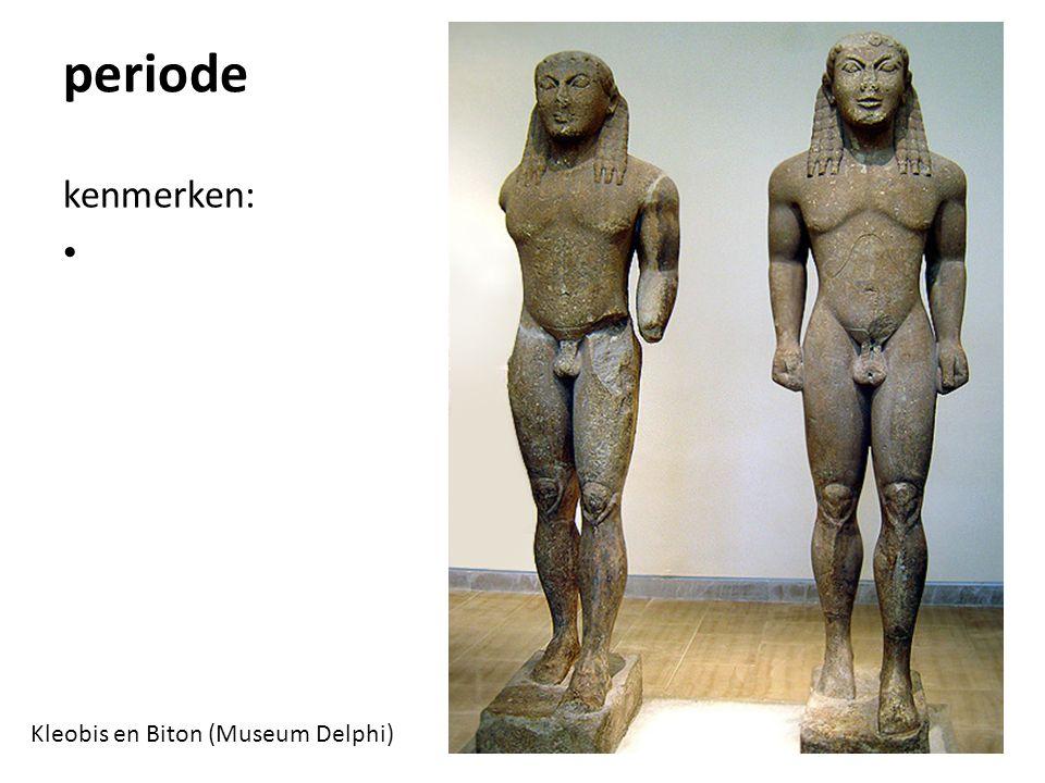 periode kenmerken: Kleobis en Biton (Museum Delphi)