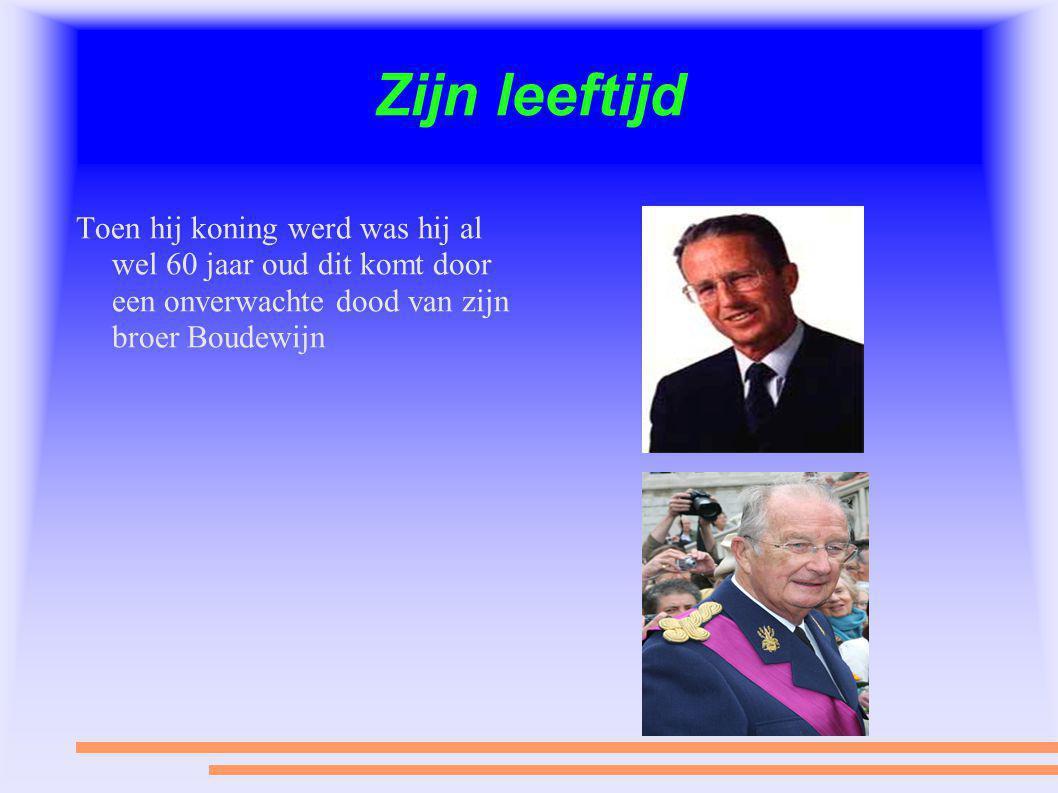 Zijn leeftijd Toen hij koning werd was hij al wel 60 jaar oud dit komt door een onverwachte dood van zijn broer Boudewijn