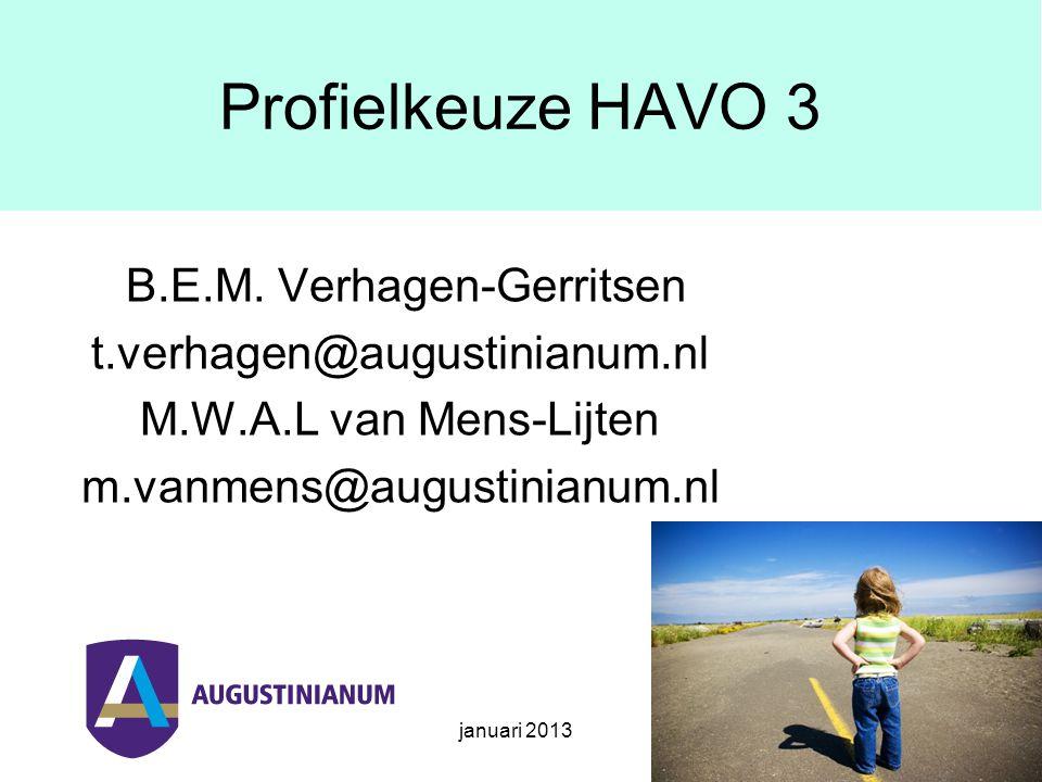 januari 2013 Onderwerpen Opzet en rol decanaat Ouders als coach Toekomstdossier Profiel- en studiekeuze Informatie profielkeuze Vragen