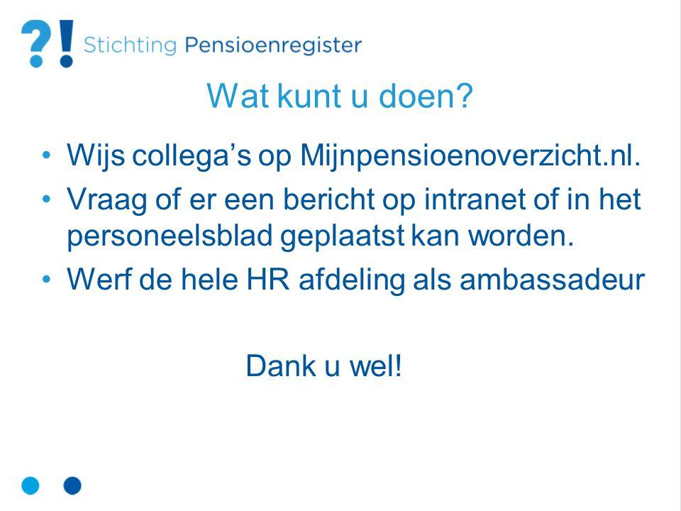 Contactgegevens www.mijnpensioenoverzicht.nl info@stichtingpensioenregister.nl telnr.