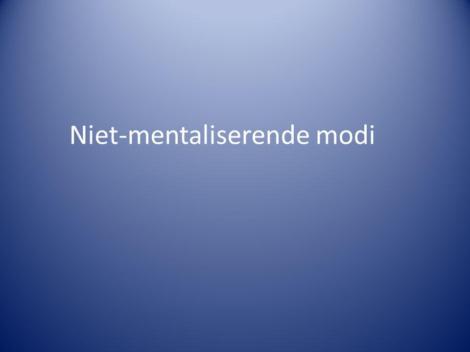 Niet-mentaliserende modi