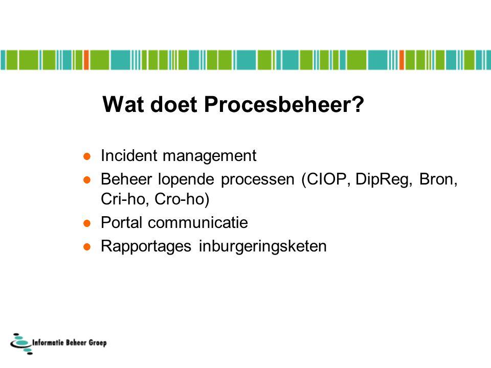 Wat doet Procesbeheer.