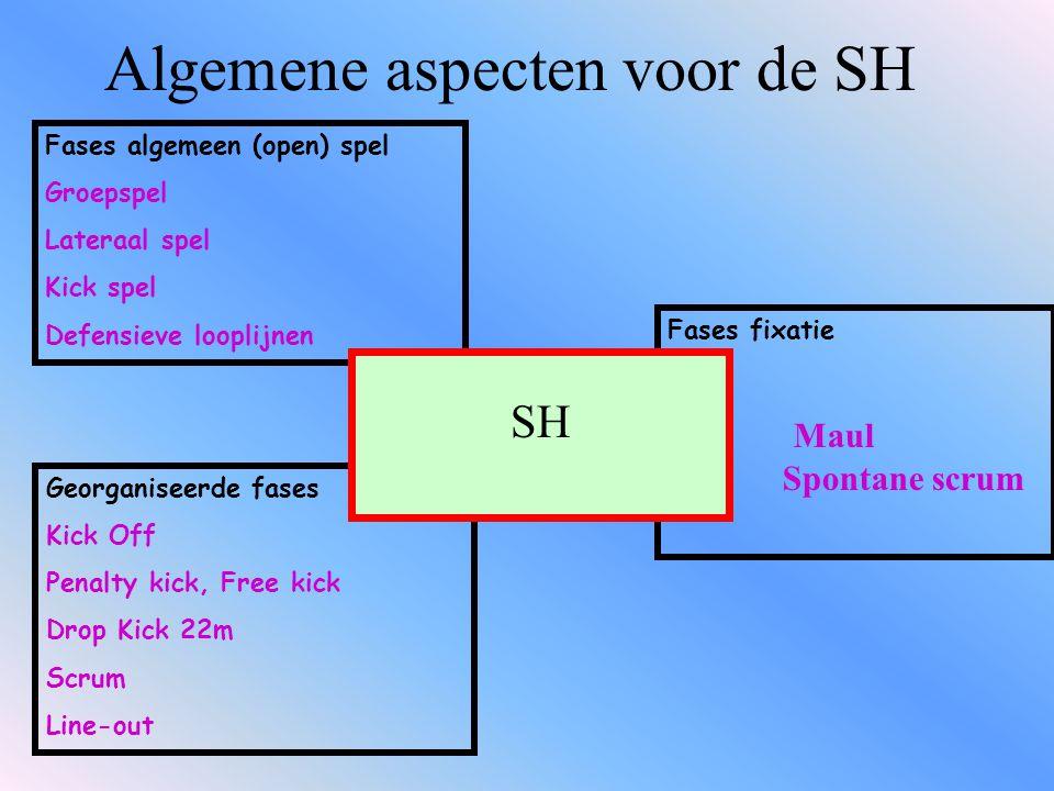 De pas De SH moet: Moet de bal snel en op een precieze manier passen Hij moet de kracht en snelheid van zijn pas onder controle hebben Werken op de pas is fundamenteel Specifiek werken is noodzakelijk