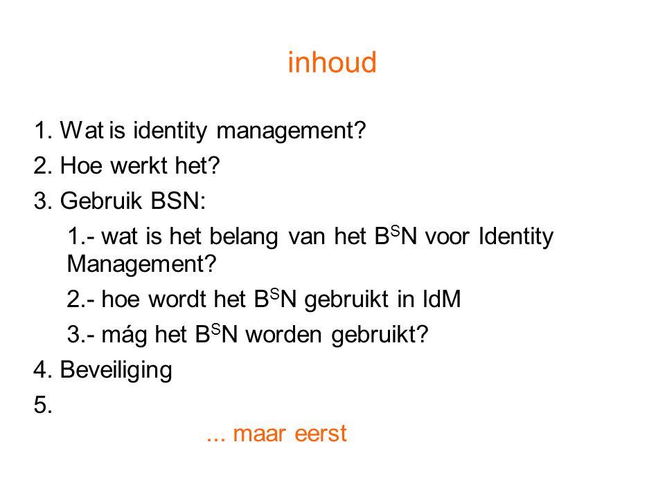 Regel #1 Identity Management is géén personenbeheer