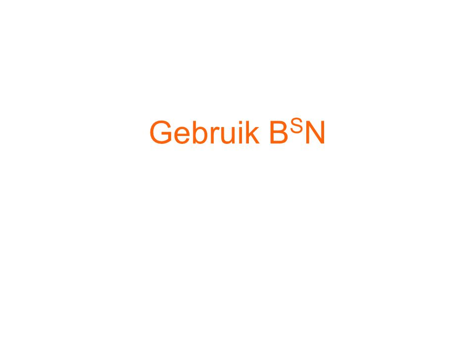 Gebruik B S N