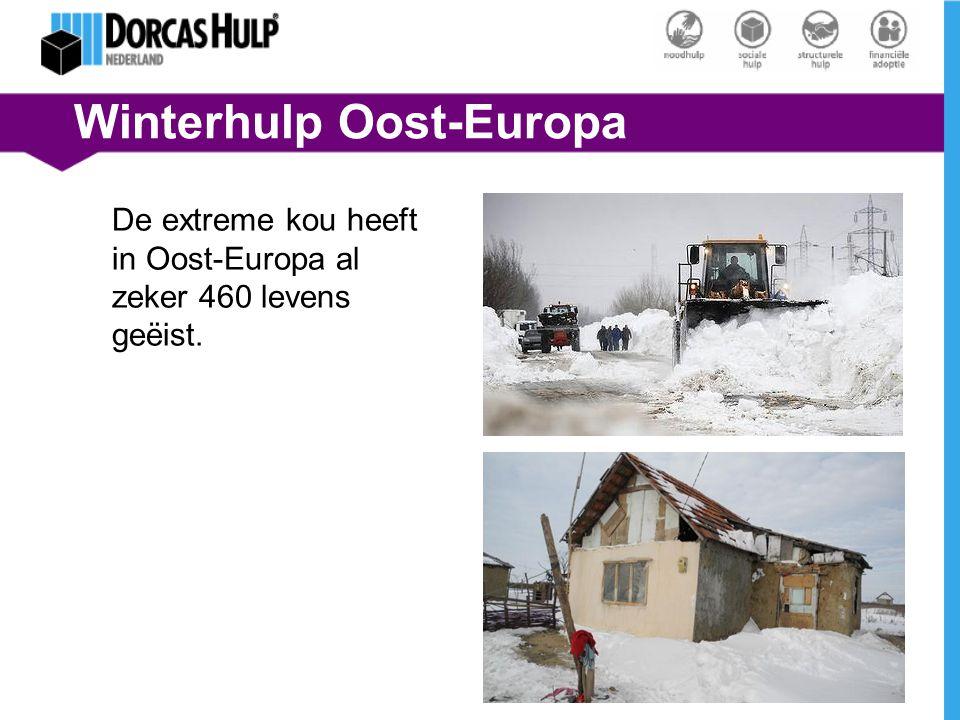 Winterhulp Oost-Europa De extreme kou heeft in Oost-Europa al zeker 460 levens geëist.