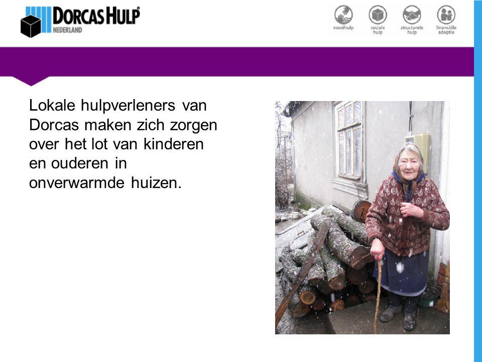 Lokale hulpverleners van Dorcas maken zich zorgen over het lot van kinderen en ouderen in onverwarmde huizen.