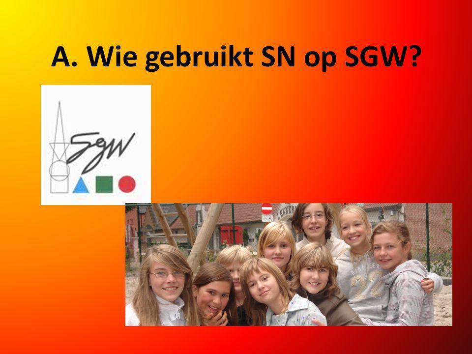 A. Wie gebruikt SN op SGW?