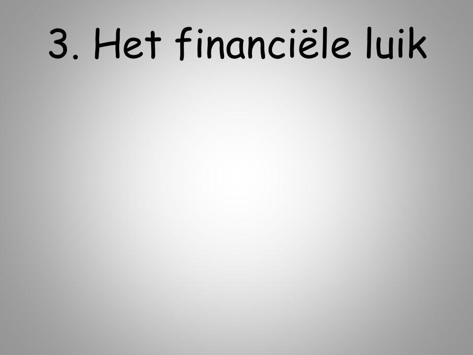 3. Het financiële luik