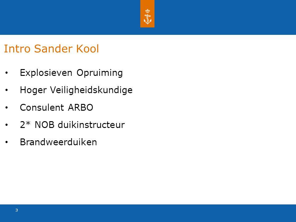 3 Intro Sander Kool Explosieven Opruiming Hoger Veiligheidskundige Consulent ARBO 2* NOB duikinstructeur Brandweerduiken