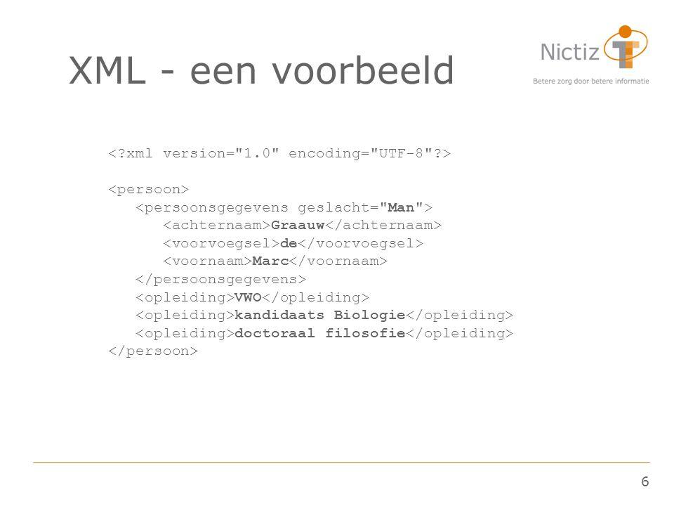 6 XML - een voorbeeld Graauw de Marc VWO kandidaats Biologie doctoraal filosofie