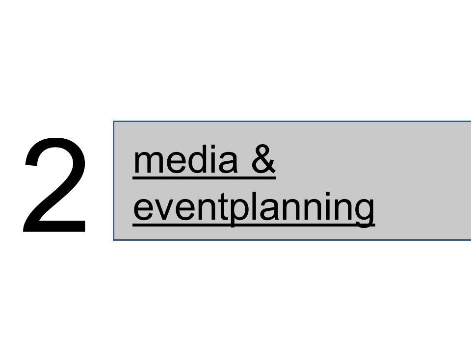 media & eventplanning 2