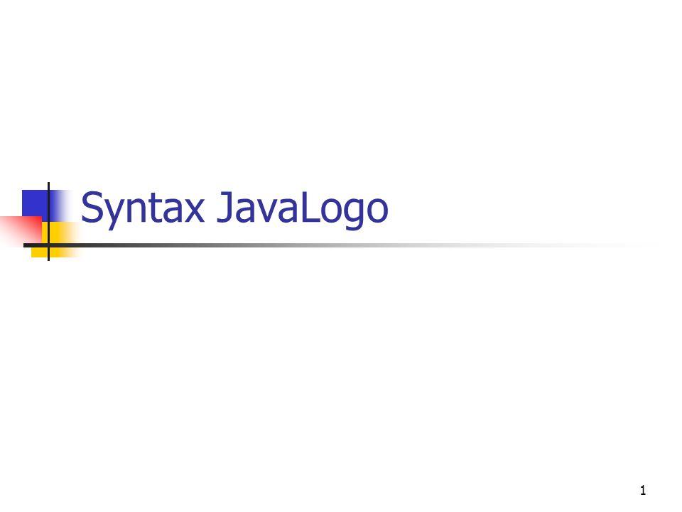 1 Syntax JavaLogo
