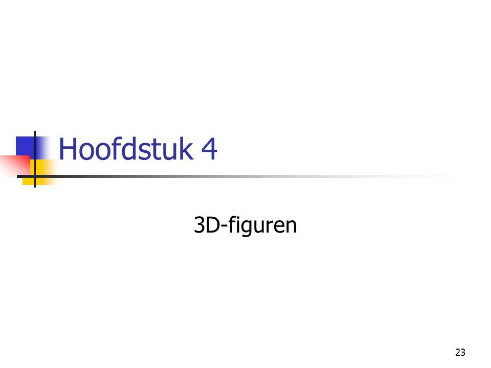23 Hoofdstuk 4 3D-figuren
