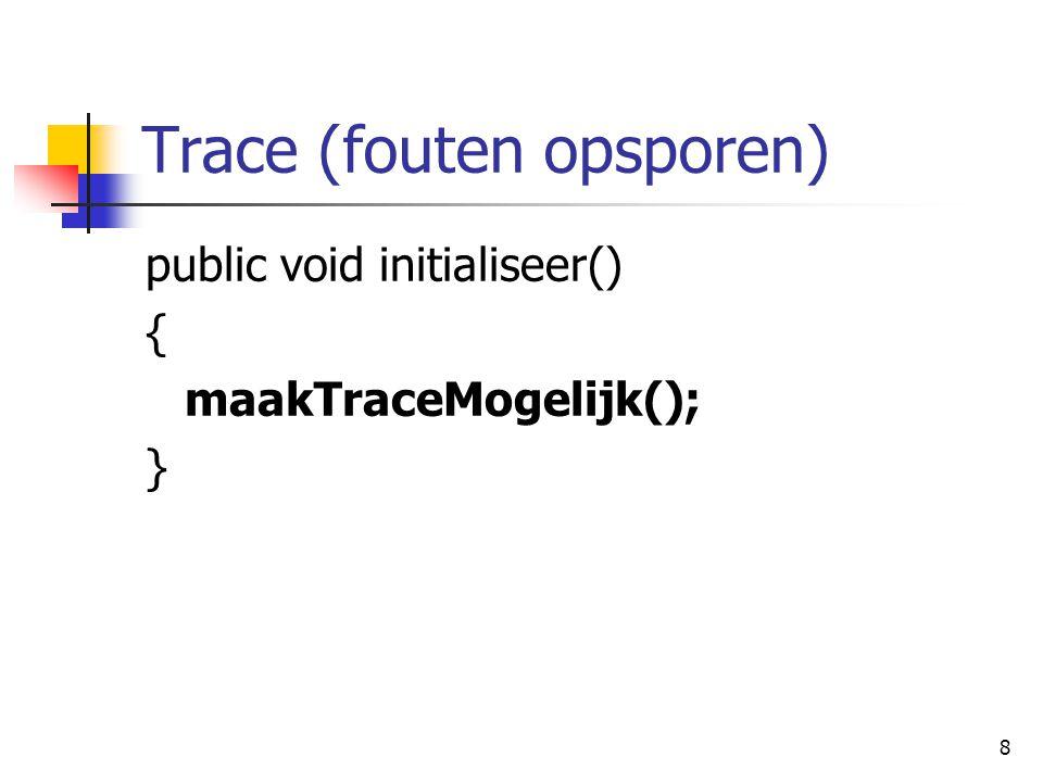 9 Variabelen maken/gebruiken import logotekenap.*; public class Applet1 extends TekenApplet { double trompet; public void tekenprogramma() { trompet = 200; >}}