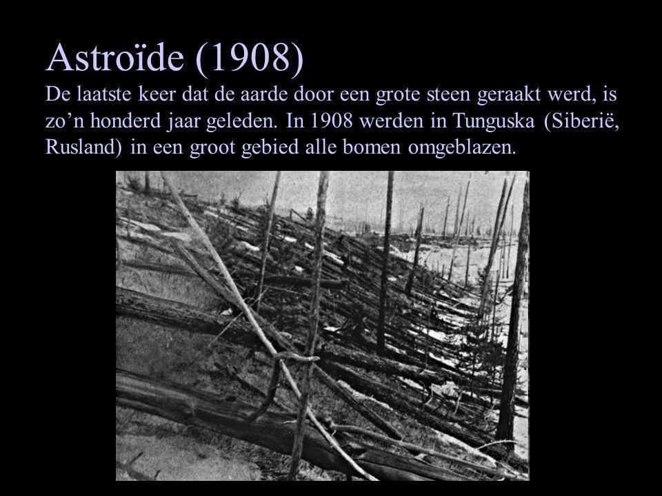 Astroïde (1908) De laatste keer dat de aarde door een grote steen geraakt werd, is zo'n honderd jaar geleden.