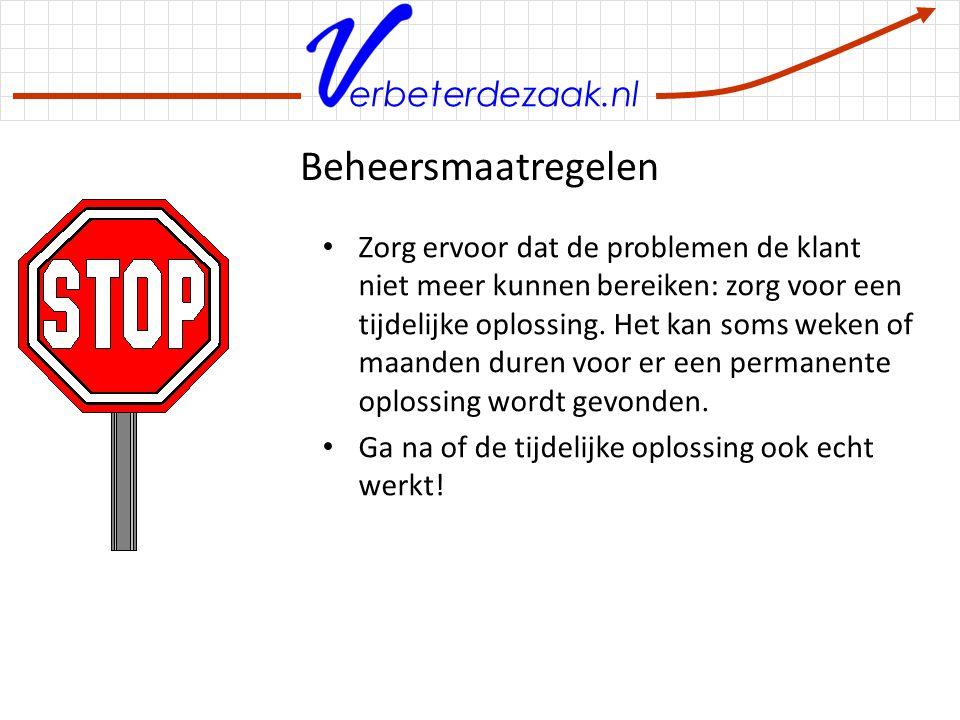 erbeterdezaak.nl Registreer de verbetering Zijn de verbeterresultaten volgens schema.