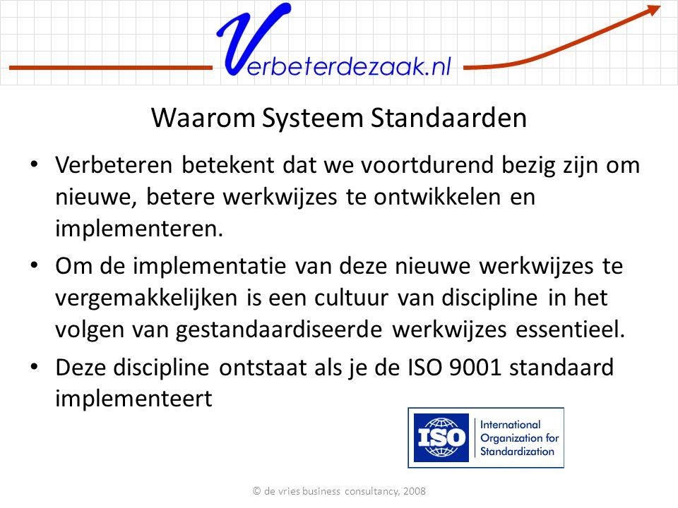 erbeterdezaak.nl Waarom Systeem Standaarden Verbeteren betekent dat we voortdurend bezig zijn om nieuwe, betere werkwijzes te ontwikkelen en implementeren.