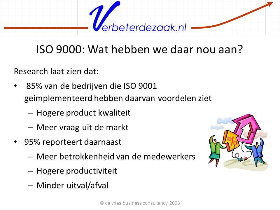 erbeterdezaak.nl ISO 9000: Wat hebben we daar nou aan.