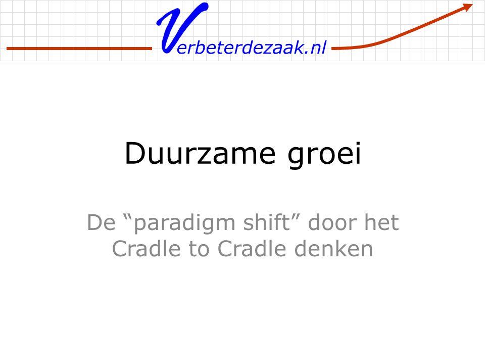 """erbeterdezaak.nl Duurzame groei De """"paradigm shift"""" door het Cradle to Cradle denken"""