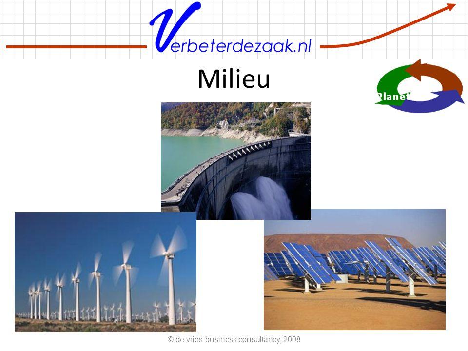 erbeterdezaak.nl Milieu © de vries business consultancy, 2008