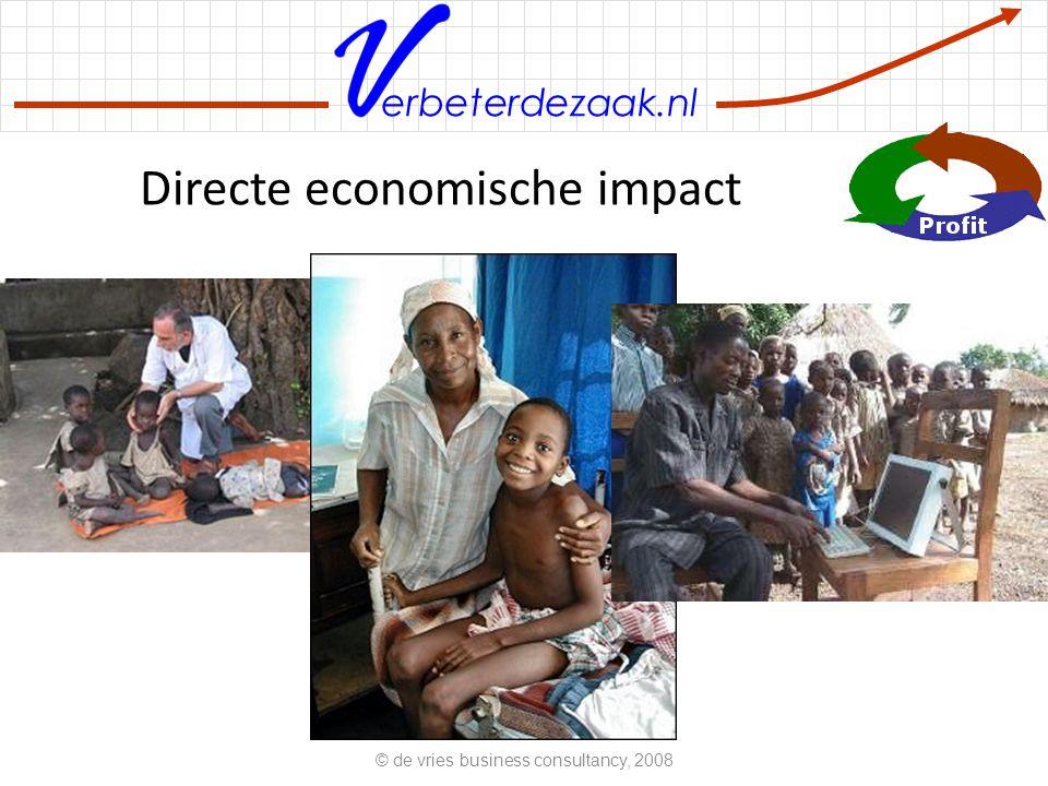 erbeterdezaak.nl Directe economische impact © de vries business consultancy, 2008