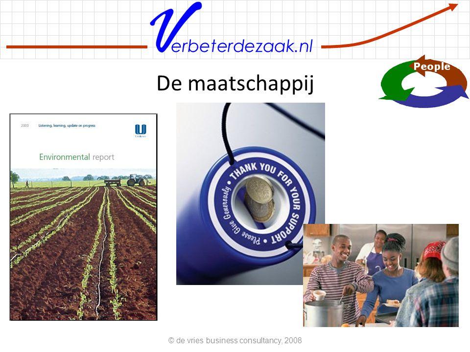 erbeterdezaak.nl De maatschappij © de vries business consultancy, 2008