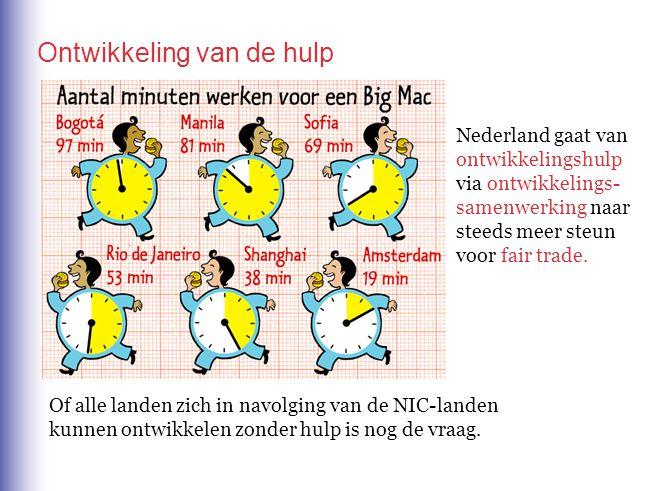 Ontwikkeling van de hulp Nederland gaat van ontwikkelingshulp via ontwikkelings- samenwerking naar steeds meer steun voor fair trade.