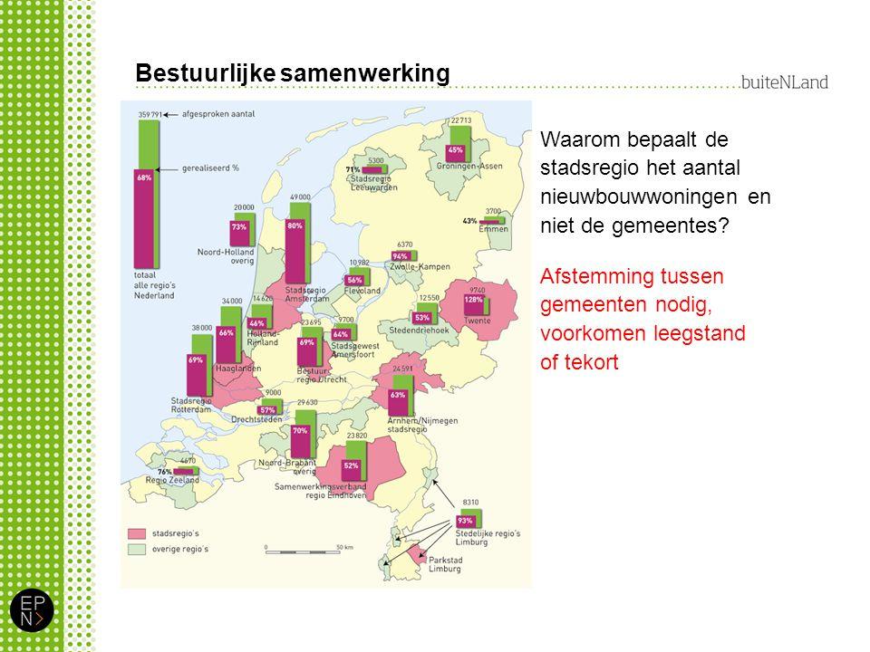 Bestuurlijke samenwerking Waarom bepaalt de stadsregio het aantal nieuwbouwwoningen en niet de gemeentes.