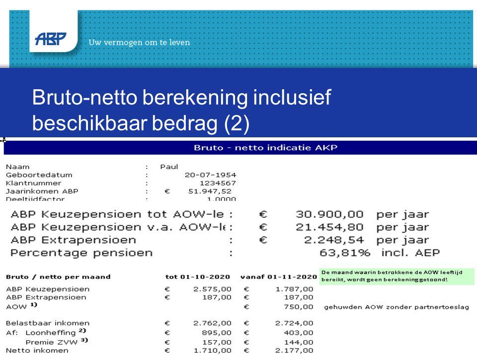 Bruto-netto berekening inclusief beschikbaar bedrag (2)