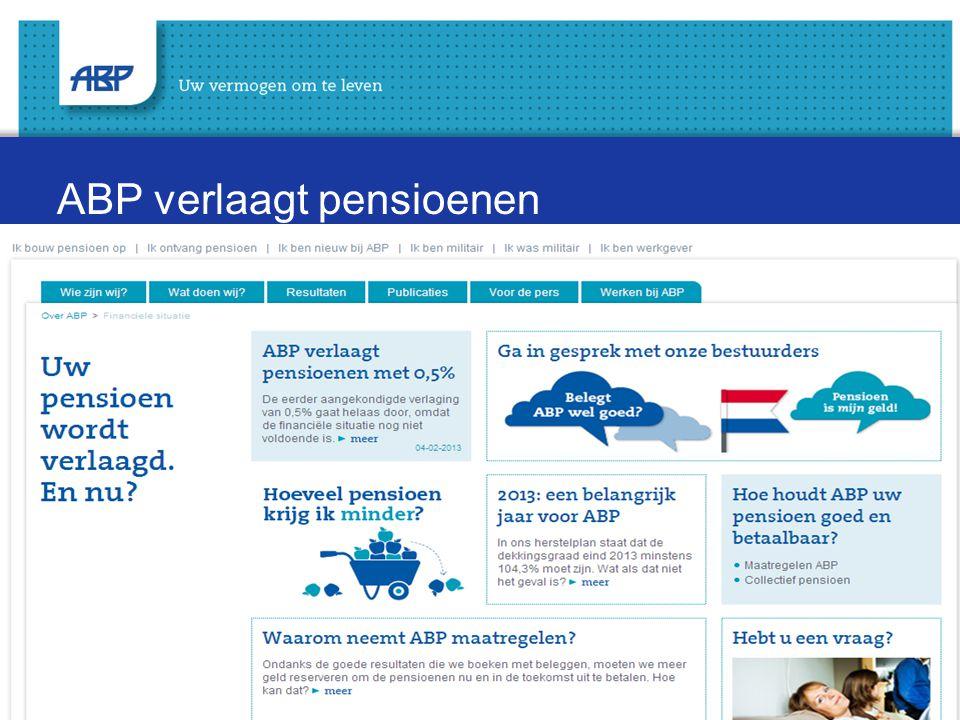 4 ABP verlaagt pensioenen