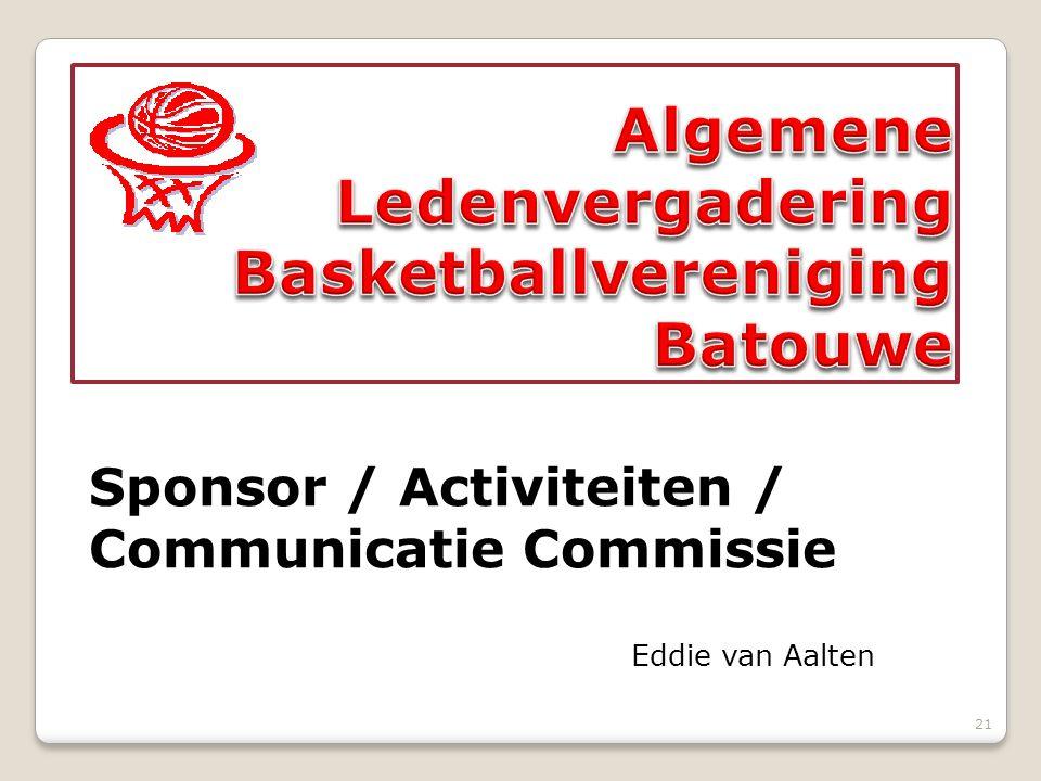21 Sponsor / Activiteiten / Communicatie Commissie Eddie van Aalten