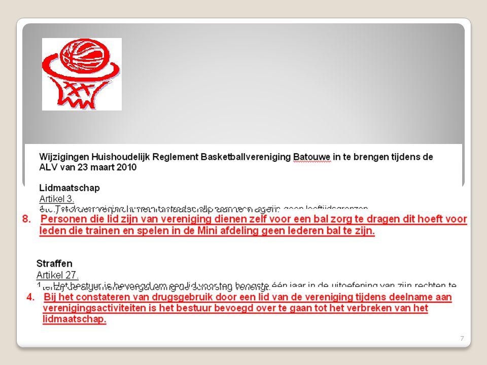 Contributie seizoen 2010 - 2011 18 Voor komend seizoen voorzien we geen contributieverhoging.