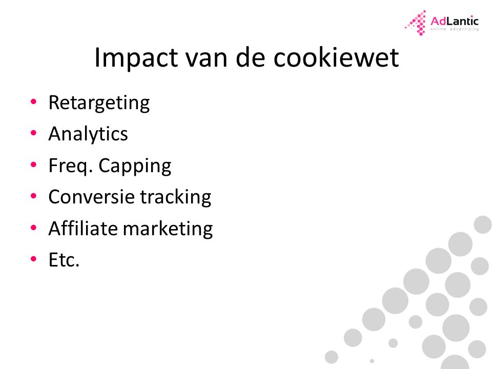 Impact van de cookiewet Retargeting Analytics Freq.