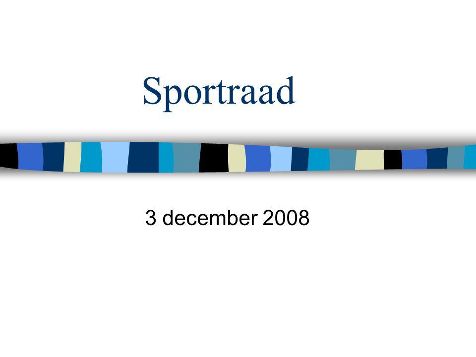 Sportraad 3 december 2008