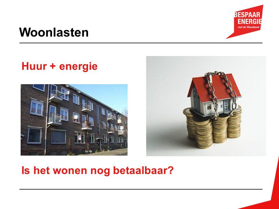 Onderzoek 1 – voorraad (WOON 2012) -40% huishoudens met lage inkomens, label F of G -45% flats energielabel F of G -Energierekening label G = 2x label A