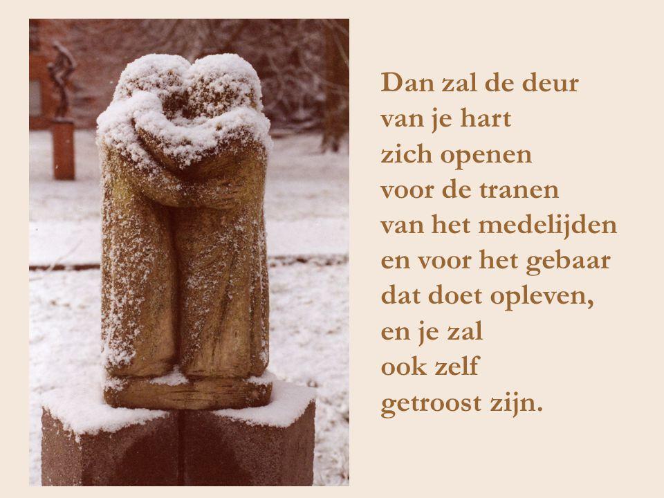 Dan zal de deur van je hart zich openen voor de tranen van het medelijden en voor het gebaar dat doet opleven, en je zal ook zelf getroost zijn.