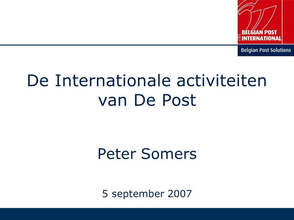 PERSONTMOETING – 5 SEPTEMBER 2007 12 1.WIE ZIJN WE & WAT DOEN WE.