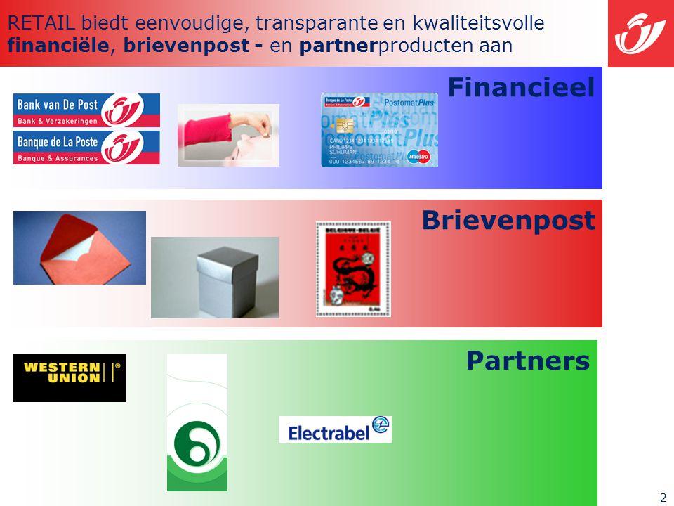 2 RETAIL biedt eenvoudige, transparante en kwaliteitsvolle financiële, brievenpost - en partnerproducten aan Financieel Brievenpost Partners
