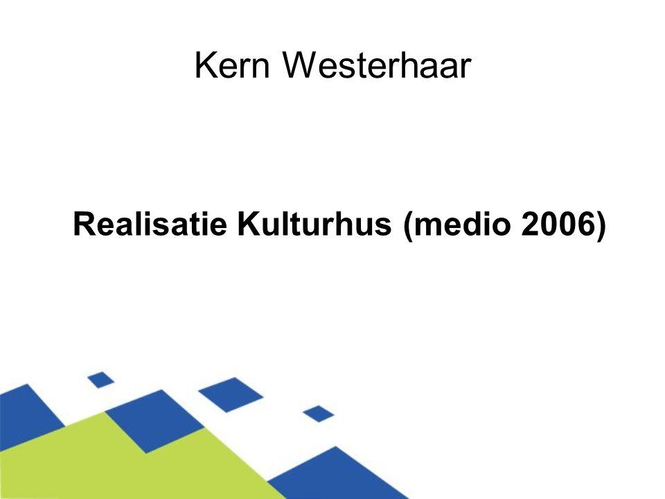 Het klankbord Het provinciaal bureau Kulturhus Overijssel heeft een belangrijke impuls gegeven om het denken en het realiseren van het Kulturhus in Westerhaar te versnellen.