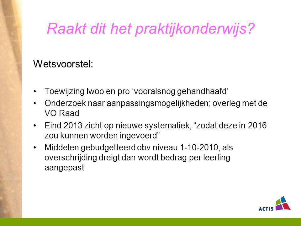 In de tijd gezien 2012-20132013-2014 Indeling SWV's in nov 2012 gereed Zorgplicht per 1-8-2013 Regionaal ondersteuningsplan voor 1-5-2013 naar Inspectie Nieuwe SWV's van kracht per 1-8-2013; bezuiniging op ambulante begeleiding per 1- 8-2013 Einde REC's & indicatiestelling per 1-8-2013