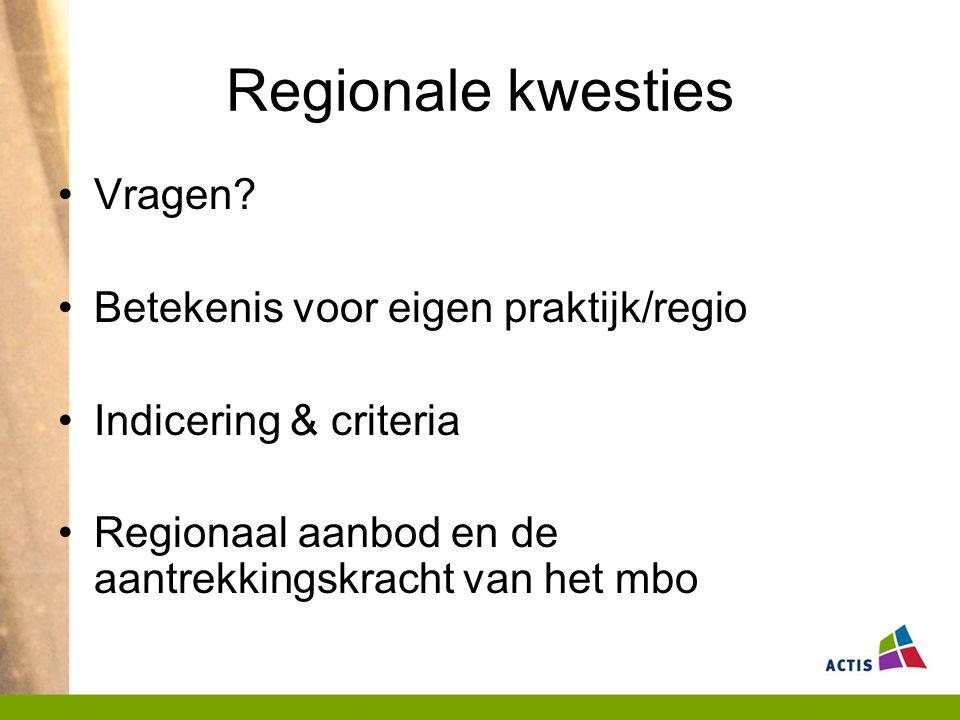 Regionale kwesties Vragen.