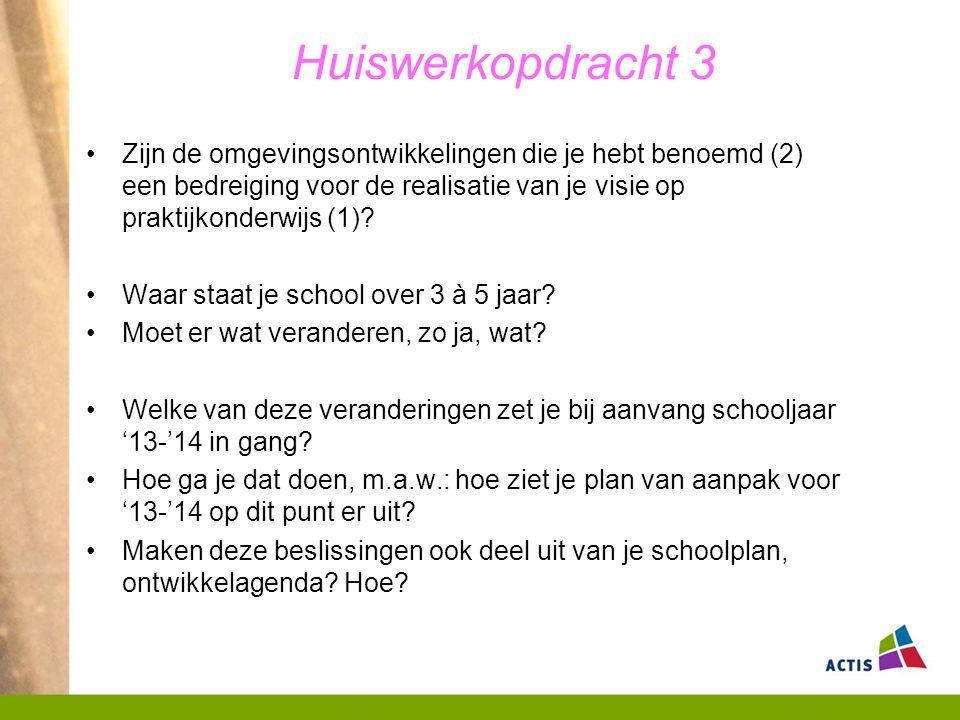 Huiswerkopdracht 3 Formuleer antwoord op deze vragen en bereid een korte presentatie voor van max.
