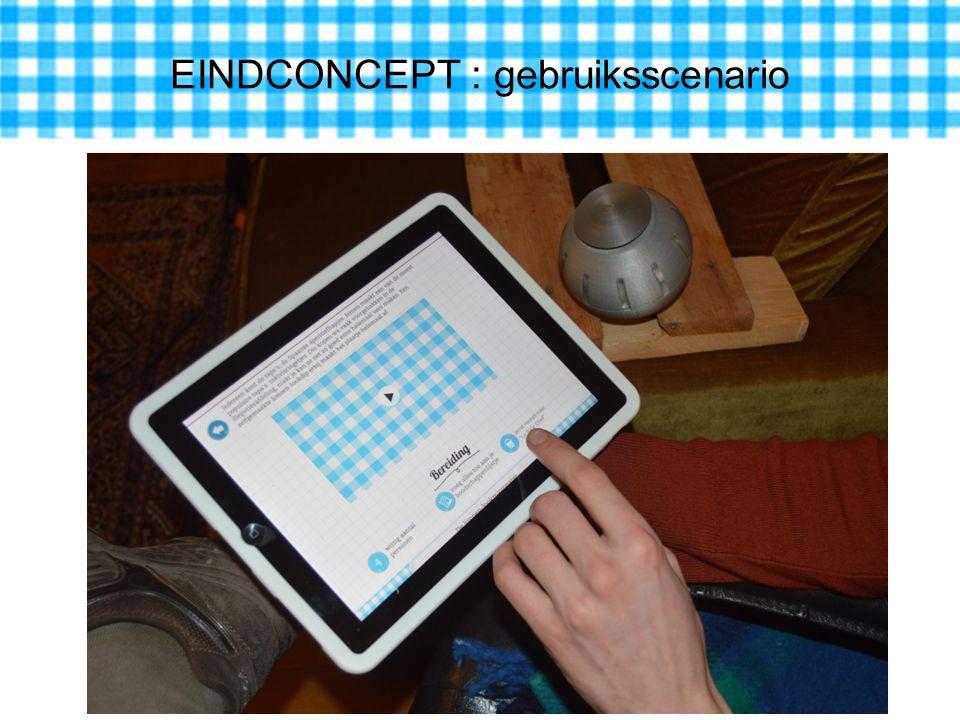 EINDCONCEPT : gebruiksscenario