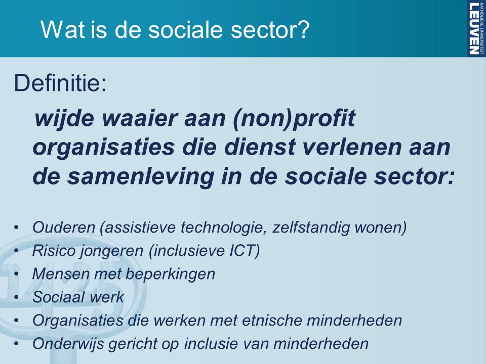Wat is de sociale sector.