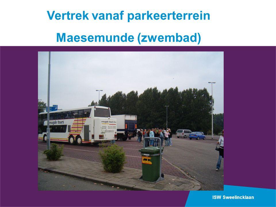 ISW Sweelincklaan Vertrek vanaf parkeerterrein Maesemunde (zwembad)