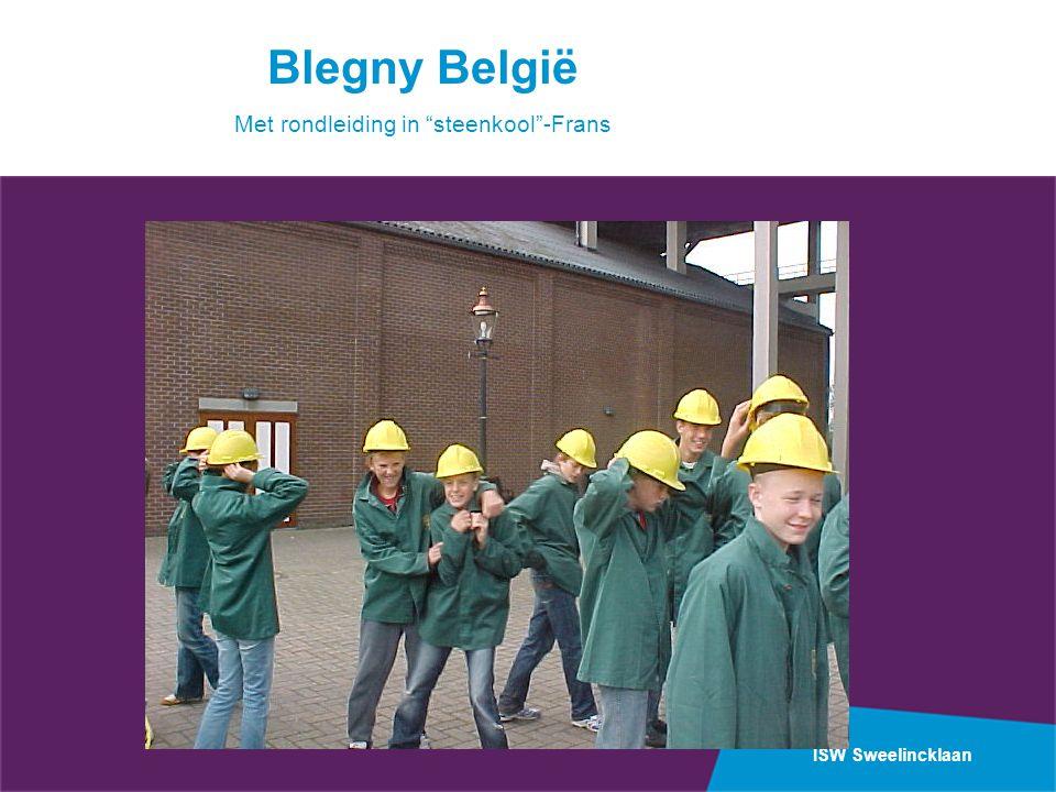 "ISW Sweelincklaan Blegny België Met rondleiding in ""steenkool""-Frans"