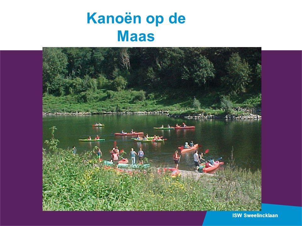 ISW Sweelincklaan Kanoën op de Maas