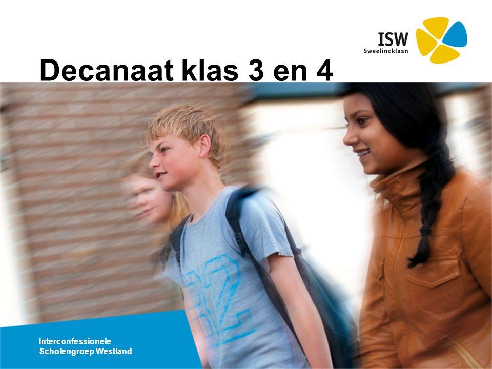Interconfessionele Scholengroep Westland Decanaat klas 3 en 4