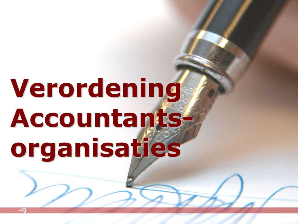 Verordening Accountants- organisaties